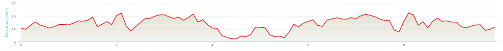 10 Miler elevation profile